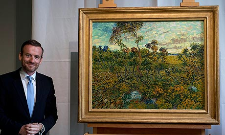 Sunset at Montmajour by Van Gogh with Axel Reuger of VGogh museum