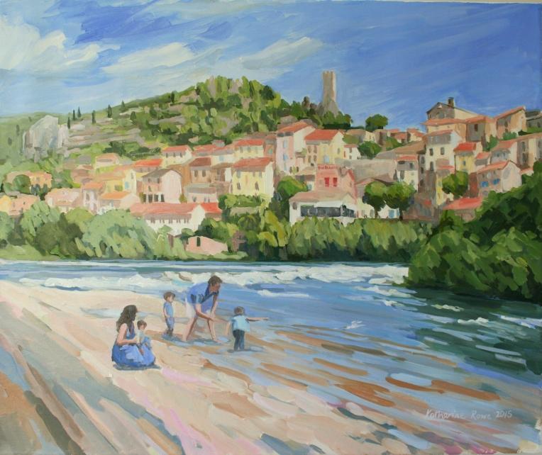 Budibent portrait in Roquebrun, 60x50cm